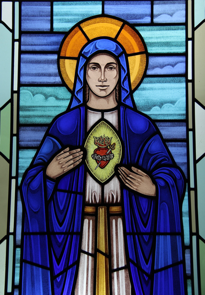 Immaculate Heart, vertical image
