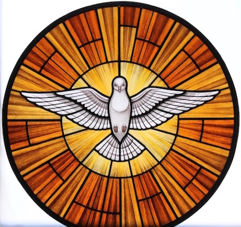 Holy Spirit window, web