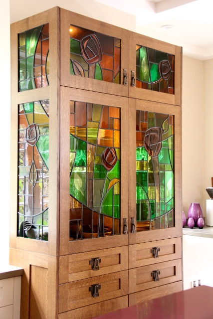 Beau Shaughnessy Stained Glass Cabinet, Vancouver