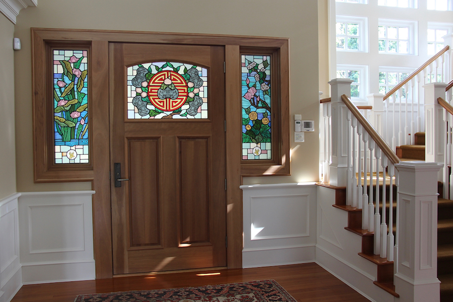 Bai Windows insitu, full ©Gilroy Stained Glass