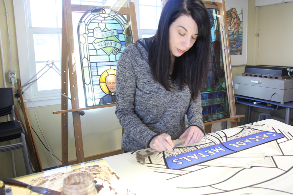 Cascade Metals Project- in the studio ©Gilroy Stained Glass