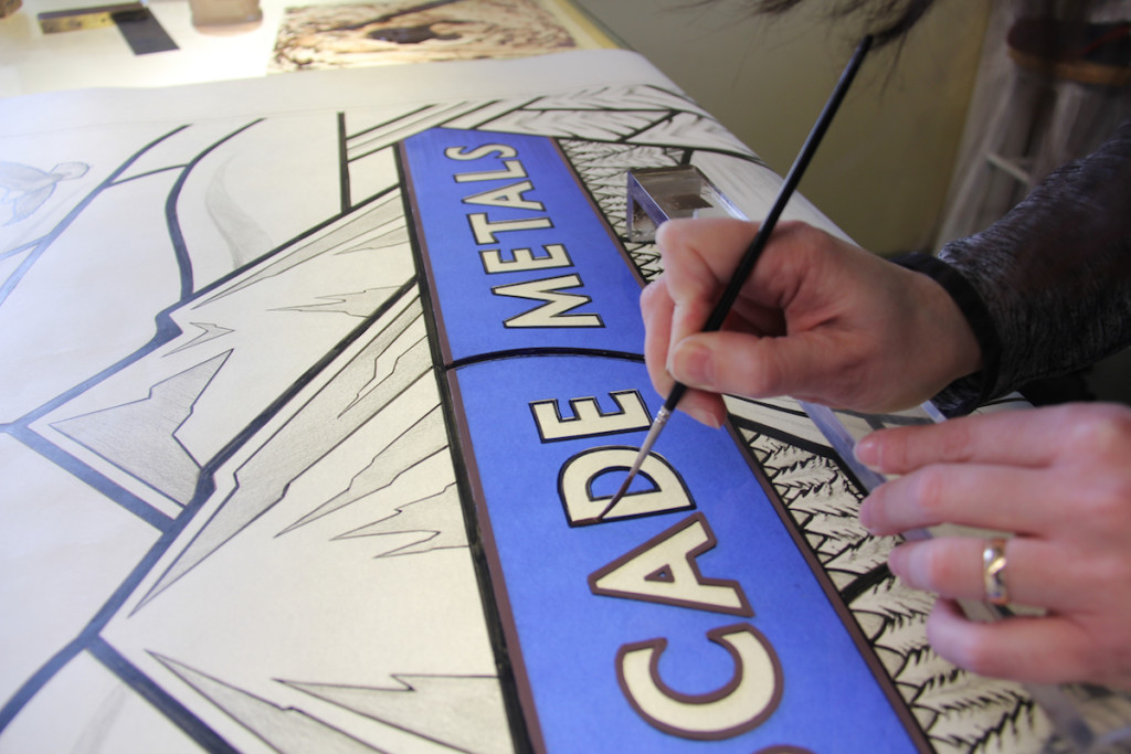 Tracing lettering © Gilroy Stained Glass